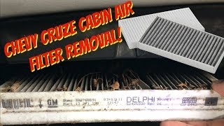 CHEVY CRUZE CABIN AIR FILTER REMOVAL - NO AIR FLOW ON VENTS?
