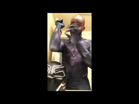 XCOSER BLACK PANTHER HELMET AND ZENTAI-ZENTAI BLACK PANTHER SUIT REVIEW