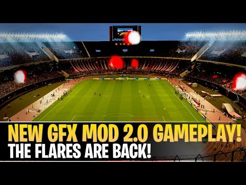 [TTB] PES 2019 - NEW GFX Mod 2.0 Gameplay - The Flares Are Back!