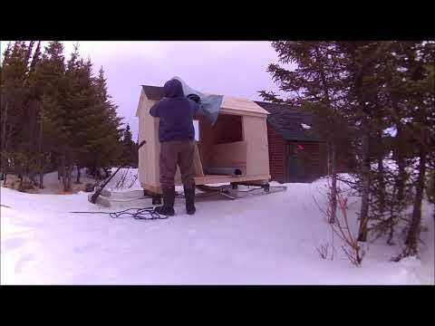 Ice Fishing Shanty// Snowmobile Camper// Cooking Shack ,,,,,part 2