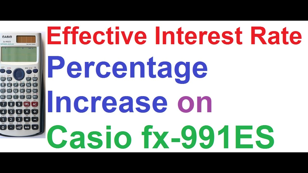 how to use percentage in casio calculator