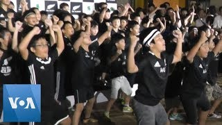 Japanese Young Rugby Fans Perform Haka to Greet New Zealand Rugby Team