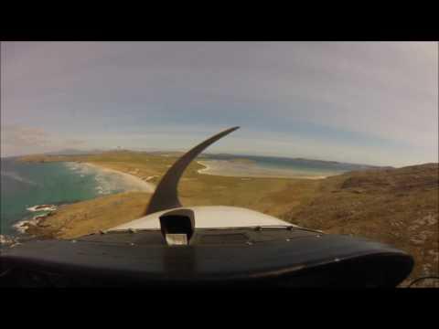 Atterrissage sur la plage de Barra en Cessna
