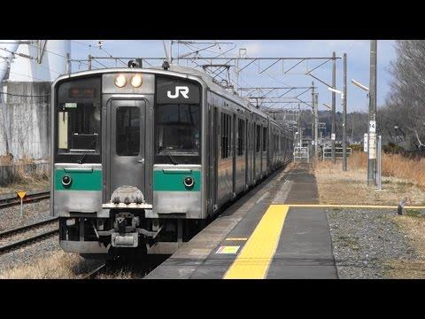 JR常磐線 亘理駅に普通列車到着