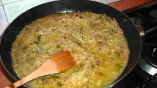 cucina per principianti risotto piccante con asparagi e zafferano
