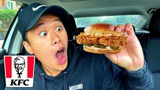 NEW KFC Chicken Sandwich Taste Test 🍗