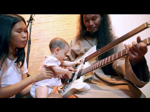 Baby Emilie Discovers the Electric Guitar - 5th July 2015