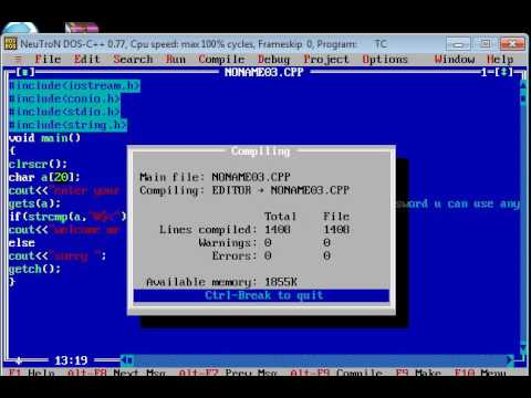 How To Make A Password Program In Turbo C++