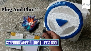Steering Wheel For Pc | V.Easy | Home Made | Play GTA V and other games | Let