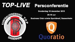 Persconferentie TOP/Quoratio, donderdag 10 december 2015