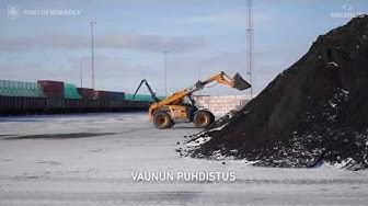 Coal handling process in Port of Kokkola  Hiilen varastointi ja purku