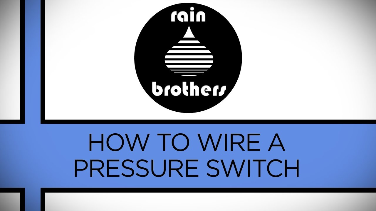 How To Wire A Pressure Switch Youtube Single Phase Starter For Submersible Pump