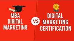 MBA vs Certification in Digital Marketing