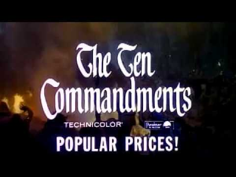 youtube the ten commandments movie