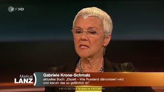 Gabriele Krone-Schmalz: Wer profitiert von der Aufregung? Markus Lanz 13.03.2018 - Bananenrepublik