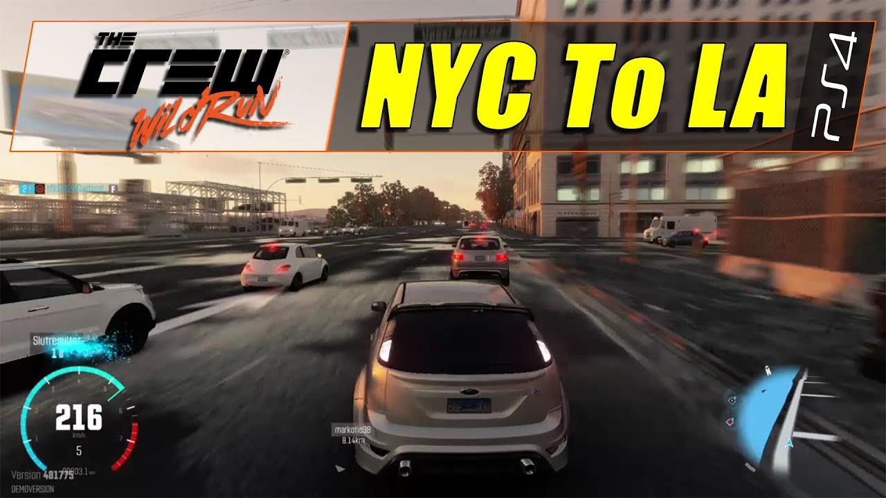 The crew wild run ps4 new york city to los angeles for New york city to los angeles