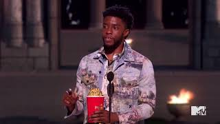 Chadwick Boseman wins Best Hero, then honors real-life hero James Shaw Jr.