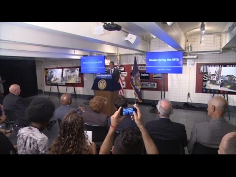 Governor Cuomo Makes Announcement at New York Transit Museum