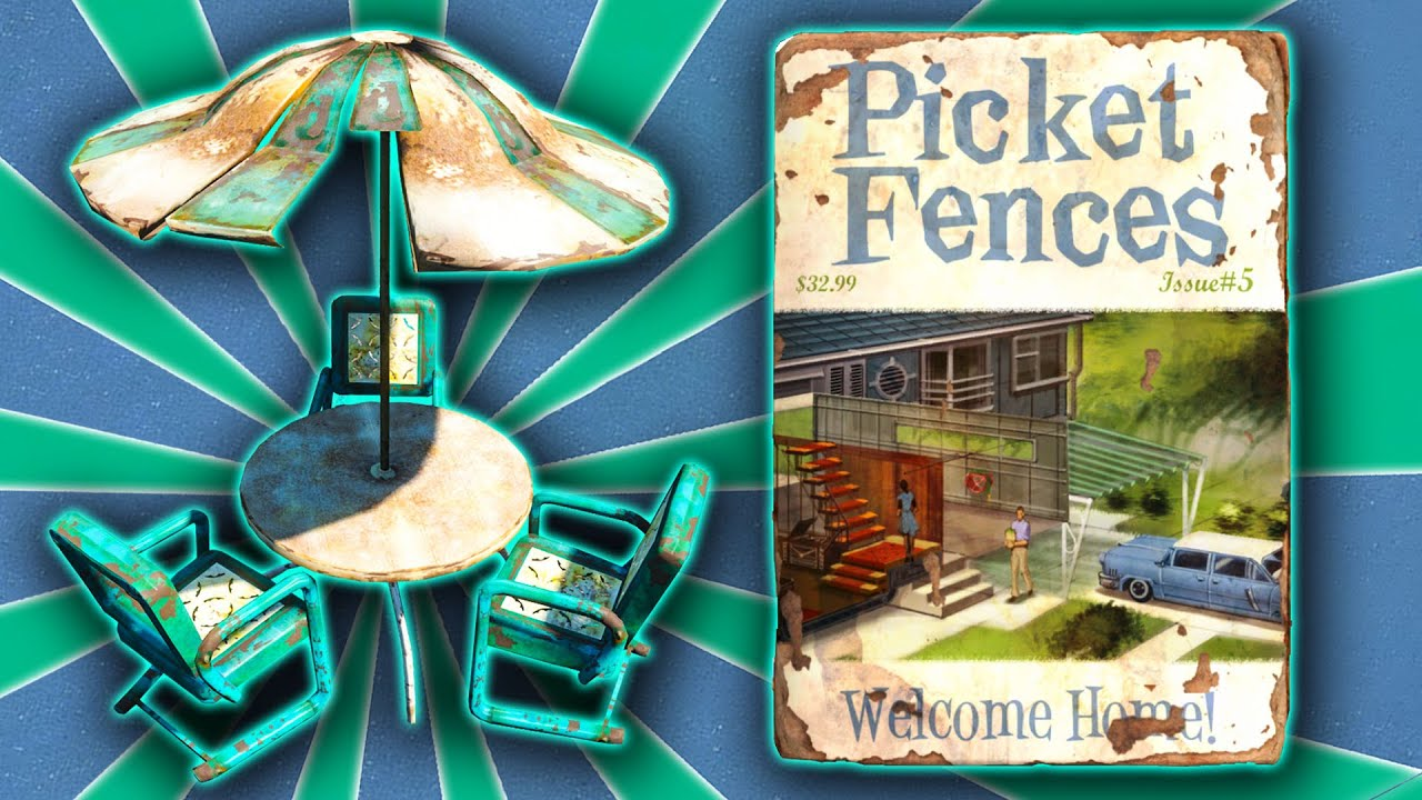 Fallout 4   Picket Fences Welcome Home ( Patio Furniture ) Guide   YouTube