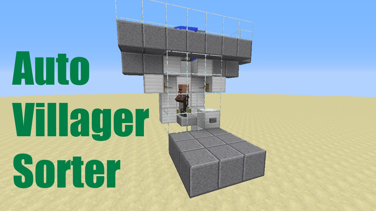 Minecraft Auto Villager Sorter Youtube