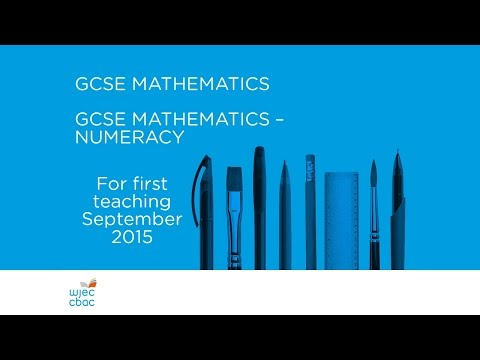 WJEC GCSE Mathematics - New Specifications (Wales only)