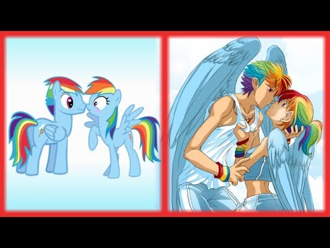 My Little Pony GENDERBEND /// LOVING COUPLE (PONY and HUMAN Form)!!!