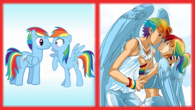 Pinkie Pie And Rainbow Dash Human Form