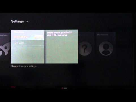 Amazon Fire TV Stick - How to Change Time and Timezone