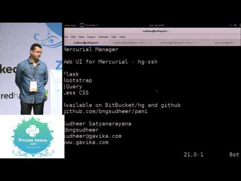 Image from Lightning Talk - Pani - PyCon India 2015