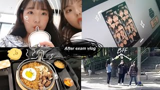 Korean students hanging out after exams vlog