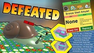 SNAIL BOSS DEFEATED!!! Nouvelle Amulette ! - Simulateur d'essaim d'essaim d'abeille de Roblox