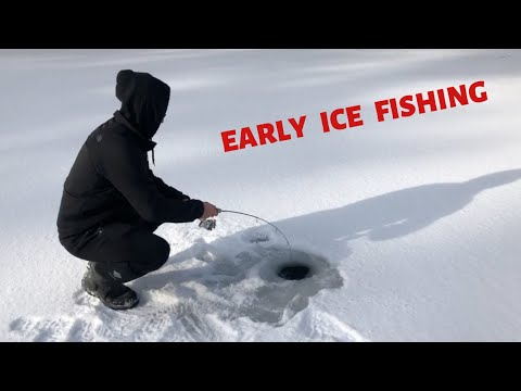 Early Ice Fishing In NEW YORK 2019