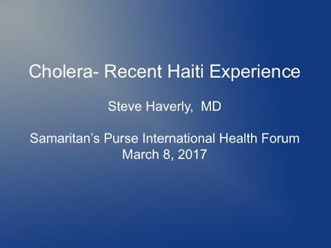 Webinar: Cholera Lessons from Haiti