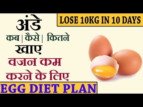 HOW TO LOSE WEIGHT FAST 10Kg in 10 Days | 900 Calorie Egg Diet Plan