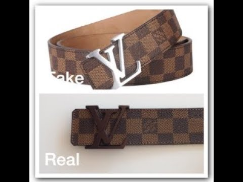 4f26294a827 REAL VS FAKE LOUIS VUITTON BELT - YouTube