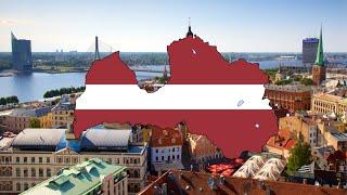 Flag Map Speedart - Latvia