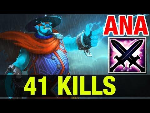 ANA 41 KILLS WITH STORM SANGE YASHA - Dota 2