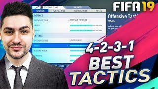 FIFA 19 BEST FORMATIONS 4-2-3-1 TUTORIAL - BEST CUSTOM TACTICS & INSTRUCTIONS / HOW TO PLAY 4-2-3-1