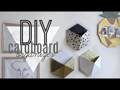 Diy Cardboard Wall Organizer Decor Youtube