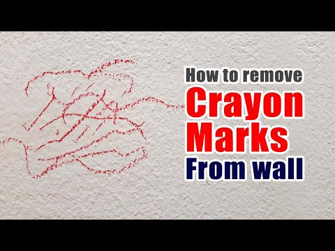 How to remove crayon marks from wall | Remove crayon marks without damaging color of your wall