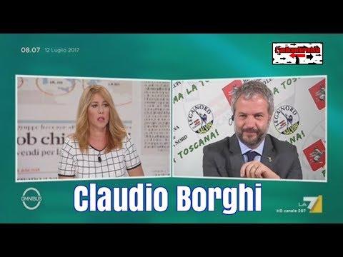 """Claudio Borghi a """"Omnibus"""" su La7 - 12/07/2017"""