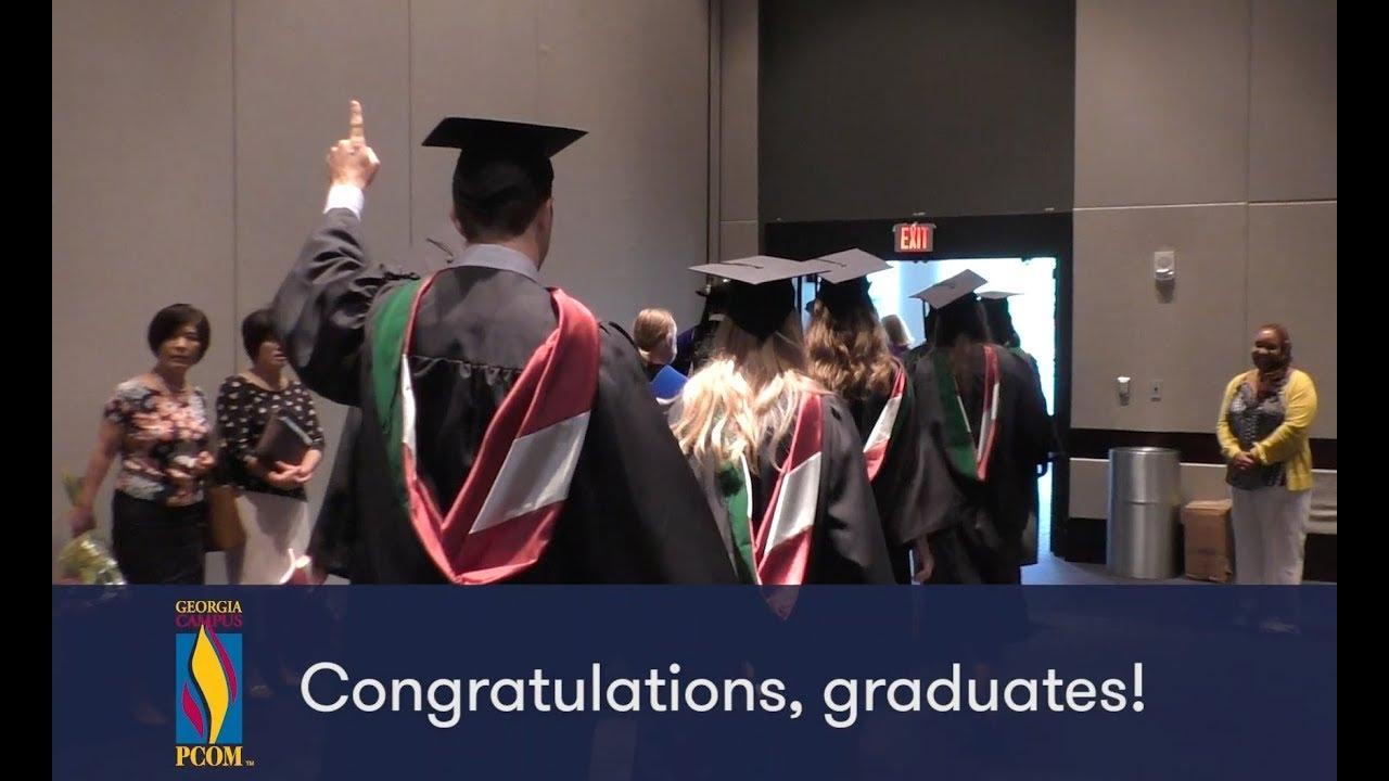 Ga Pcom Graduates Inaugural Physician Assistant Class Youtube