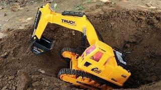 Excavators and Truck for Children | Crane ,  Fire Truck , Trailer truck