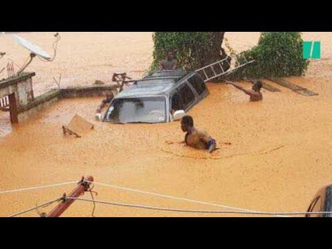 Les images dramatiques des inondations au Sierra Leone