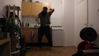 Martial arts training Hard hammer fists with left