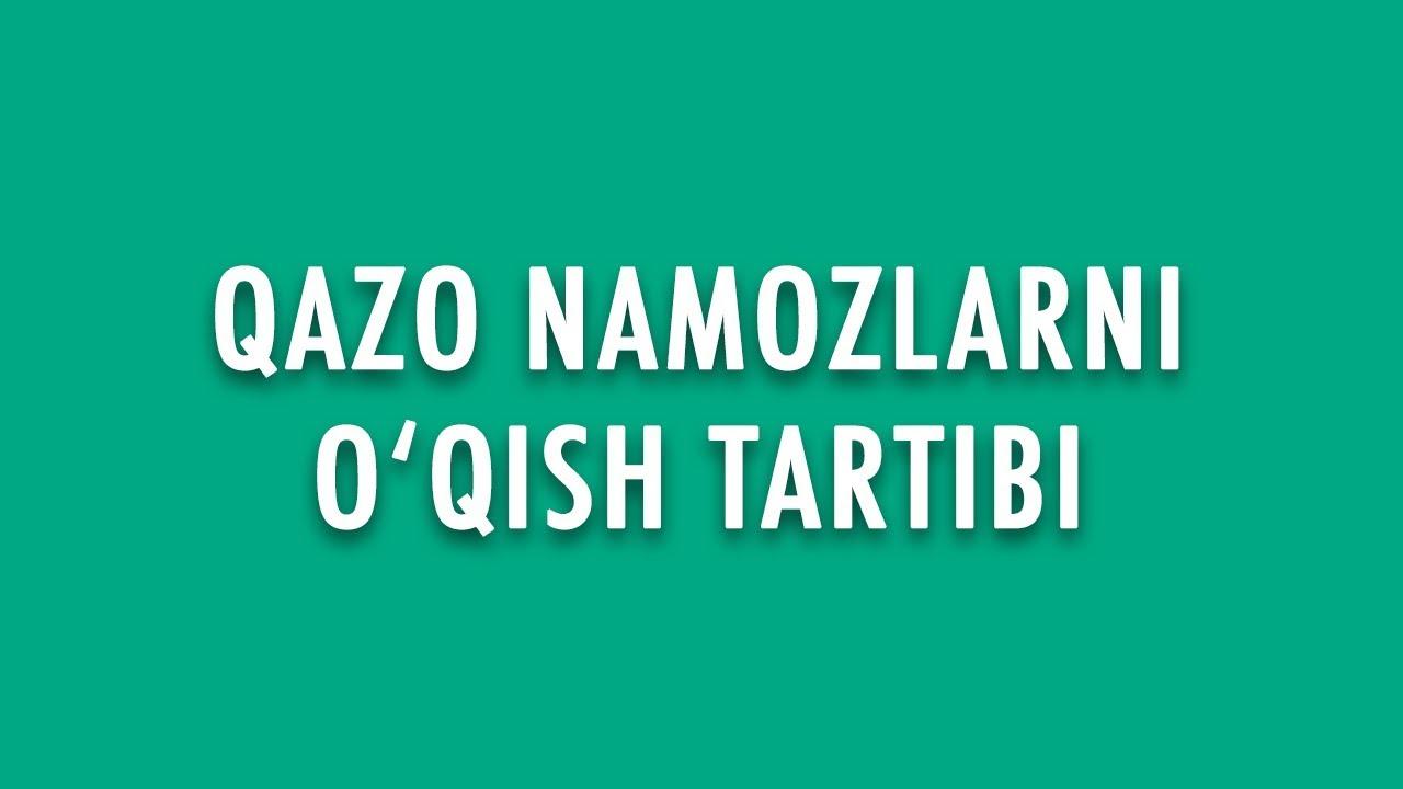 """Savol-javob: """"Qazo namozlarni o'qish tartibi"""" (Shayx Sodiq ..."""