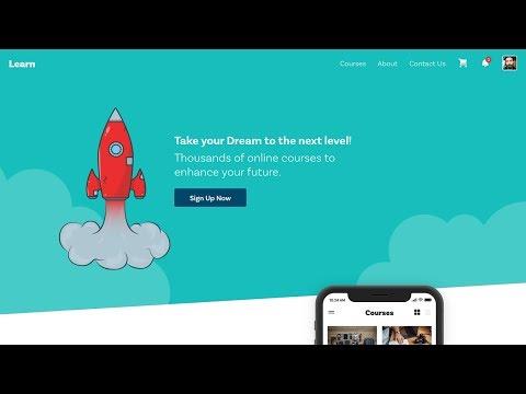 Web Design Speed art + Speed Code - Online Course Website