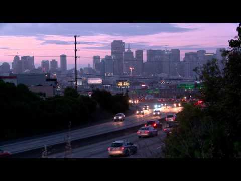 citycape at dusk
