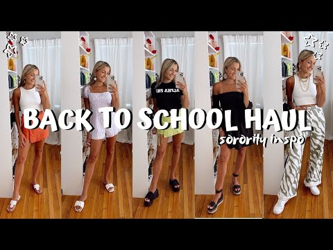 BACK TO SCHOOL HAUL 2021 (sorority recruitment outfits + clothes for college) // romwe try on haul