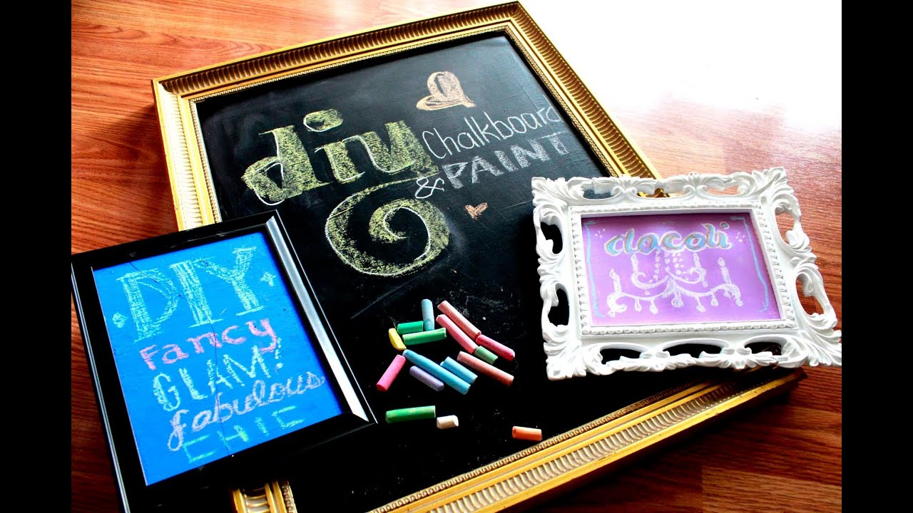 DIY: Chalkboard & Colored Chalkboard Paint ! - YouTube